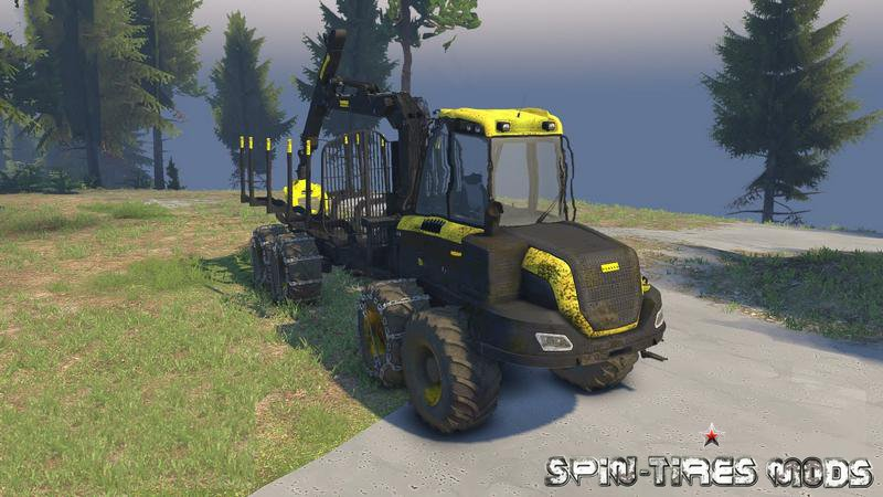 Скачать мод на Forwarder Ponsse Buffalo 8x8 для Spin Tires 2014 (Спин Тайерс)