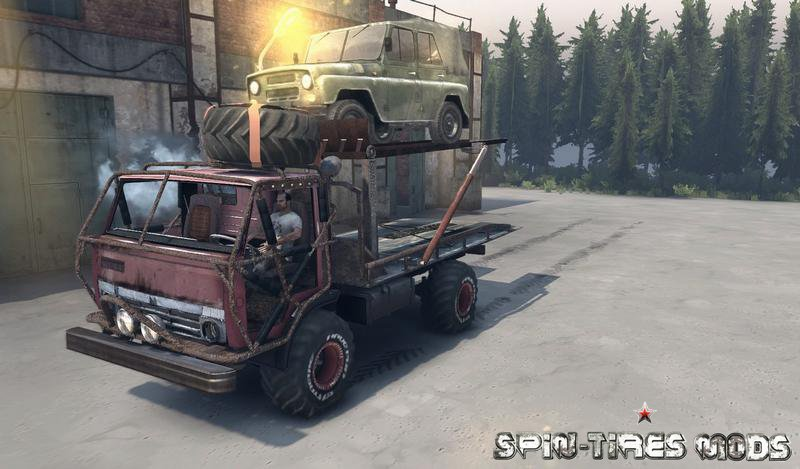 Скачать мод на грузовик Kamaz Mongo Final fixed для Spin Tires 2014 (SpinTires, Спин Тирес)