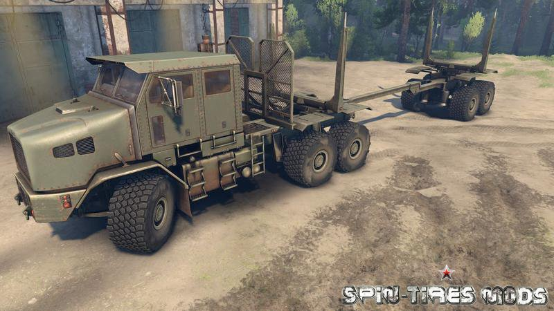 Грузовик Oshkosh M1070 Global для Spin Tires 2015 (тягач для Спин Тирес)