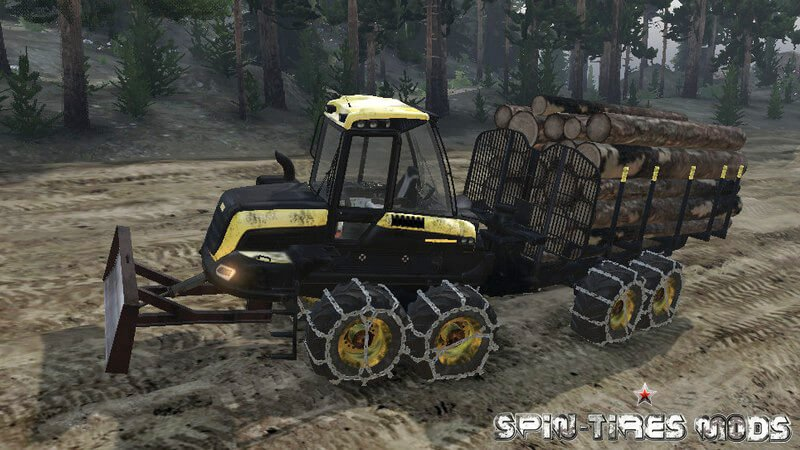 Мод на Forwarder Ponsse Buffalo 8x8 для Spin Tires 2014 (обновлено для 16.12.15)