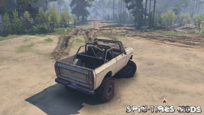 Автомобиль 1977 International Scout II для Spin Tires 2015 (25.12.15) (пикап для Спин Тирес)