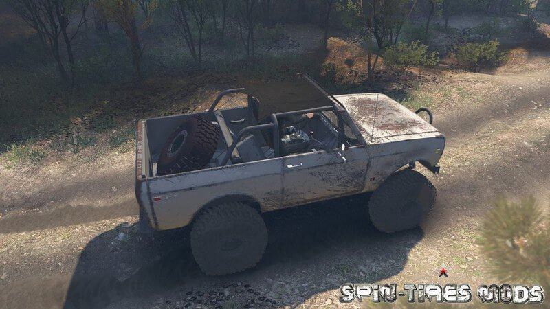 Автомобиль 1977 International Scout II для Spin Tires 2015 (25.12.15)