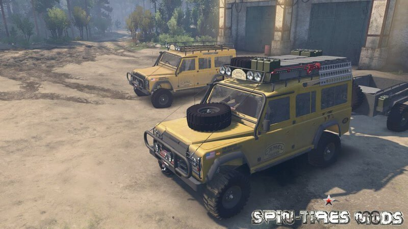 Внедорожник Camel Trophy Land Rover Defender 110 для Spin Tires 2015 (25.12.15) (Джип Ленд Ровер Дефендер 110 Camel Trophy для Спин Тирес)