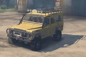 Внедорожник Camel Trophy Land Rover Defender 110 для Spin Tires 2015 (25.12.15)