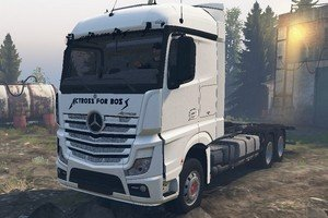 Грузовик Mercedes Benz Actros MP4 AFB для Spin Tires 2016 (03.03.16)