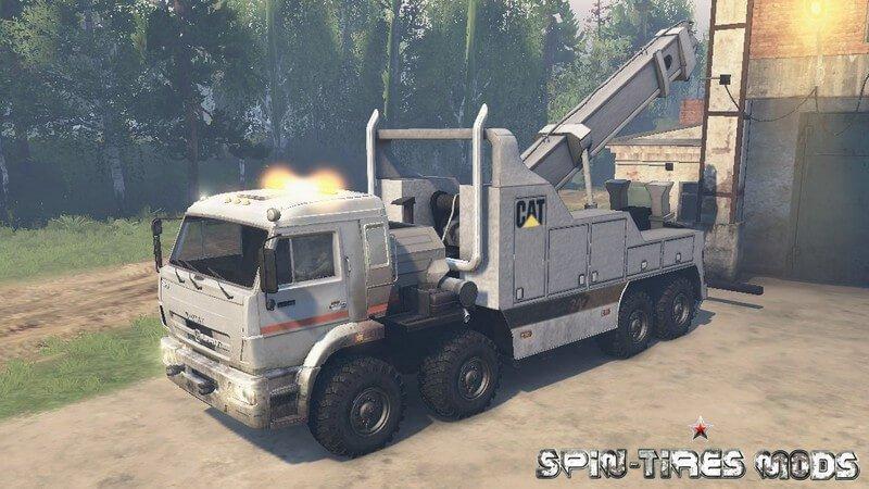 Mod Камаз 44108 Spin Tires Вконтакте